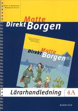 Matte Direkt Borgen 4A  Lärarhandledning på CD
