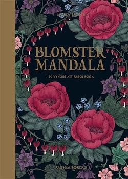 Blomstermandala : 20 vykort att färglägga