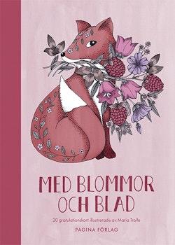 Med blommor och blad 20 gratulationskort