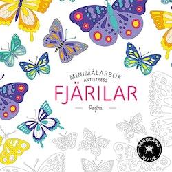 Fjärilar. Minimålarbok antistress