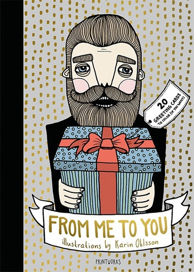 From me to you : 20 greeting cards to color (if you want)