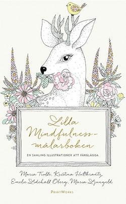 Lilla mindfulnessmålarboken en samling illustrationer att färglägga