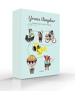 Yrvas vimplar - 20 ark med söta figurer att klippa ut och hänga upp
