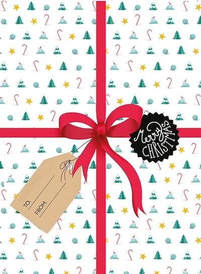 Merry Christmas : dubbla kort med kuvert 6-pack