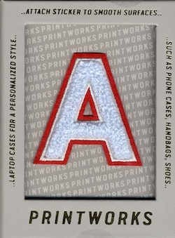 A - Embroidered Sticker