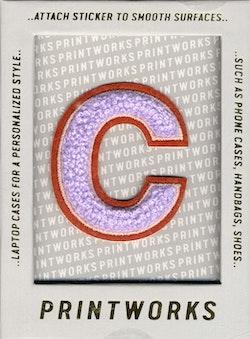 C - Embroidered Sticker