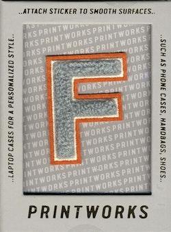 F - Embroidered Sticker
