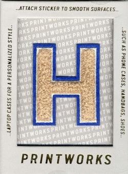 H - Embroidered Sticker
