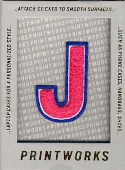 J - Embroidered Sticker