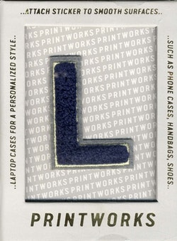 L - Embroidered Sticker