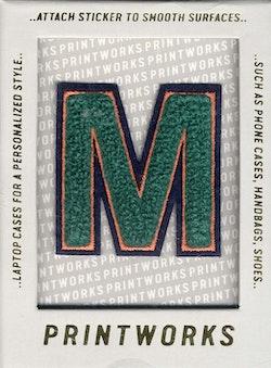 M - Embroidered Sticker