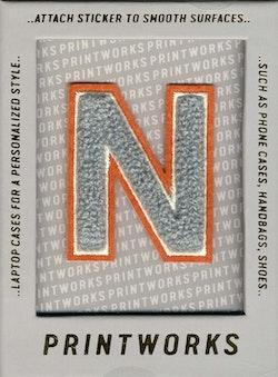 N - Embroidered Sticker