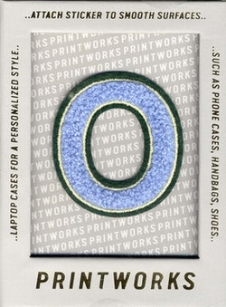 O - Embroidered Sticker