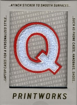 Q - Embroidered Sticker