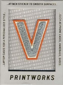 V - Embroidered Sticker