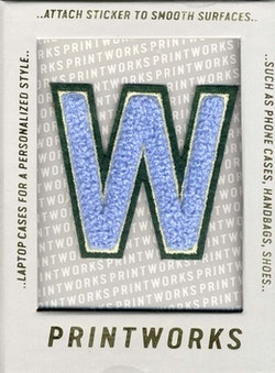 W - Embroidered Sticker