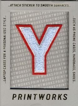 Y - Embroidered Sticker