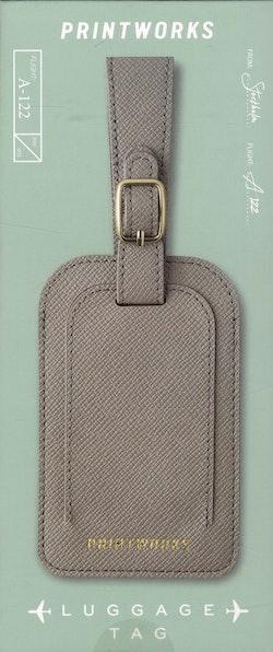 Luggage tag - Grey
