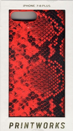 iPhone PLUS case - Red Snake