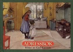 Adressbok med bilder av Carl Larsson