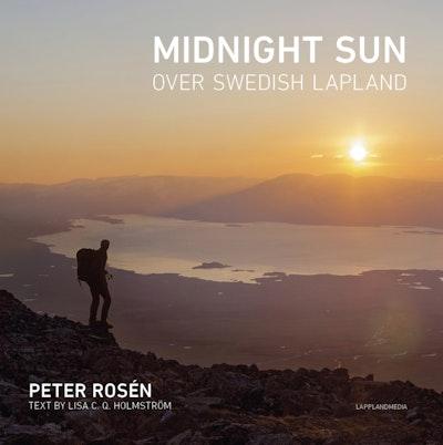 Midnight sun over Swedish Lapland