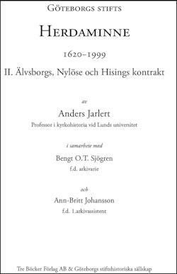 Göteborgs stifts Herdaminne 1620-1999 II Älvsborgs, Nylöse och Hisings kont