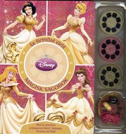 En förtrollad värld : magisk sagobok : med de underbara prinsessorna Snövit, Askungen, Törnrosa och Belle