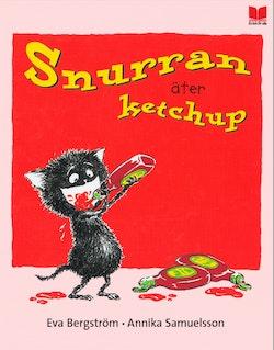 Snurran äter ketchup