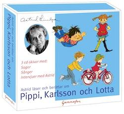 Astrid läser och berättar om Pippi, Karlsson och Lotta