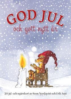 God Jul och Gott Nytt År - Vykortsbok
