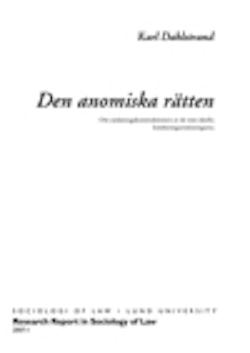 Den anomiska rätten : om undantagskonstruktionen av de rent ideella kränkningsersättningarna