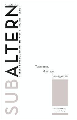 Subaltern 4(2018) Revolutionernas naturhistoria