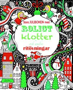 Stora julboken med roligt klotter och andra ritövningar