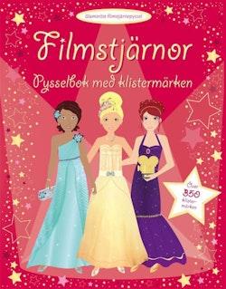 Filmstjärnor - pysselbok med klistermärken
