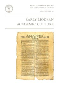 Early modern academic culture