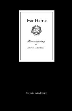 Ivar Harrie : Minnesteckning
