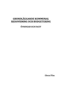 Grundläggande kommunal redovisning och budgetering