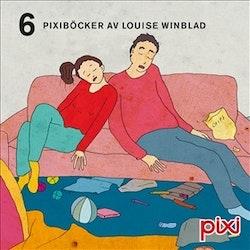 6 pixiböcker med