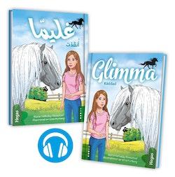 Glimma. Räddad (Tvillingpaket svenska+arabiska) (Bok+CD)