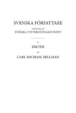 Dikter 1 : Fredmans epistlar, text
