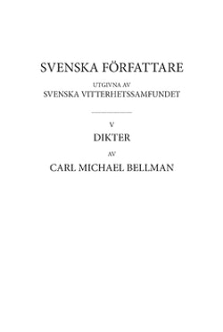 Dikter 2 : Fredmans epistlar, kommentarer