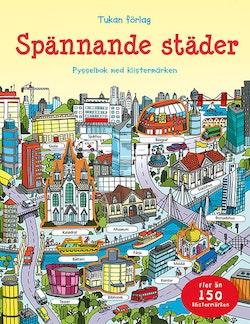 Spännande städer : pysselbok med klistermärken