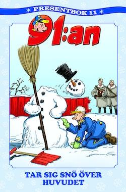 91:an presentbok. 91:an tar sig snö över huvudet