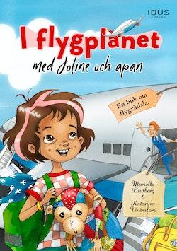 I flygplanet med Joline och apan