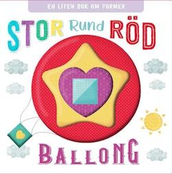 Stor, rund, röd Ballong