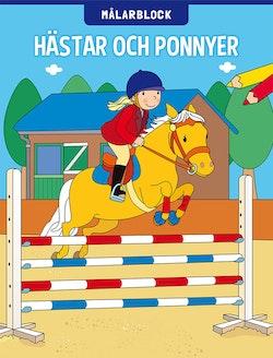 Målarblock: Hästar och ponnyer