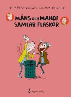 Måns och Mahdi samlar flaskor