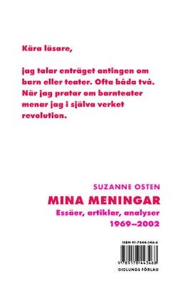 Mina meningar : essäer, artiklar, analyser 1969-2002