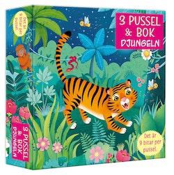 3 pussel & bok : djungeln