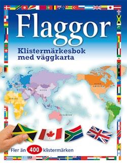 Flaggor: klistermärkesbok med väggkarta
